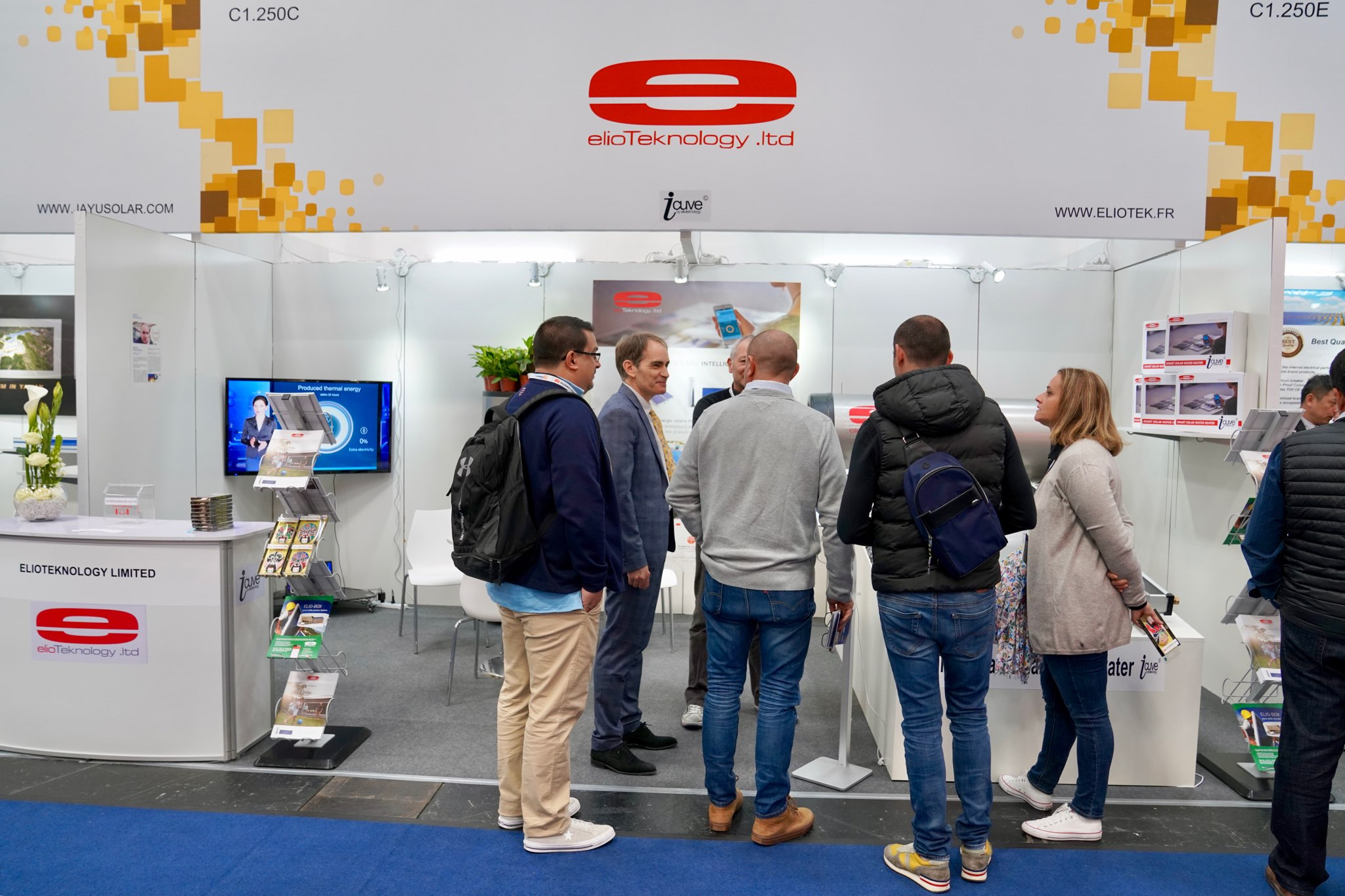 Le stand Elioteknology sur le salon Intersolar Germany 2019